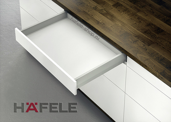 Ящик Matrix Box Push 35, высота 92 мм, ширина шкафа до 600 мм, длина 500 мм, цвет серый