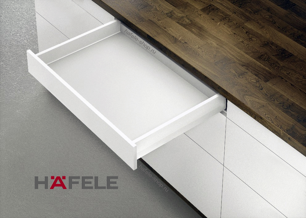 Ящик Matrix Box Push 35, высота 92 мм, ширина шкафа до 600 мм, длина 550 мм, цвет белый
