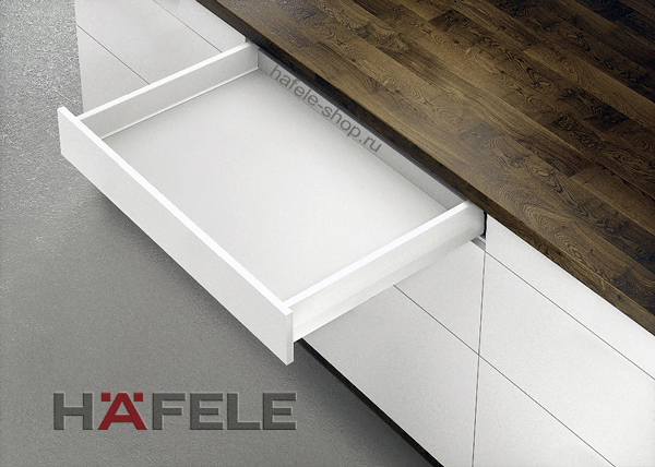 Ящик Matrix Box Push 35, высота 92 мм, ширина шкафа до 1200 мм, длина 350 мм, цвет белый