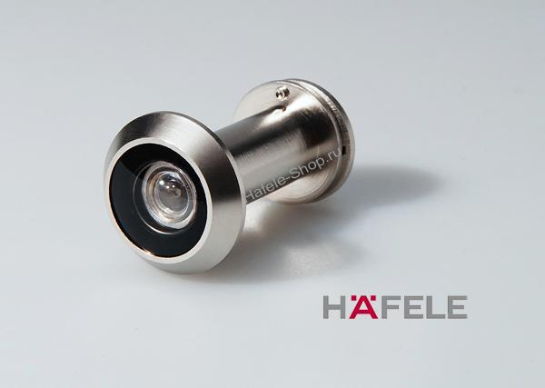 Дверной глазок, для двери толщиной 35-55 мм, цвет никель матовый, угол обзора 200 градусов