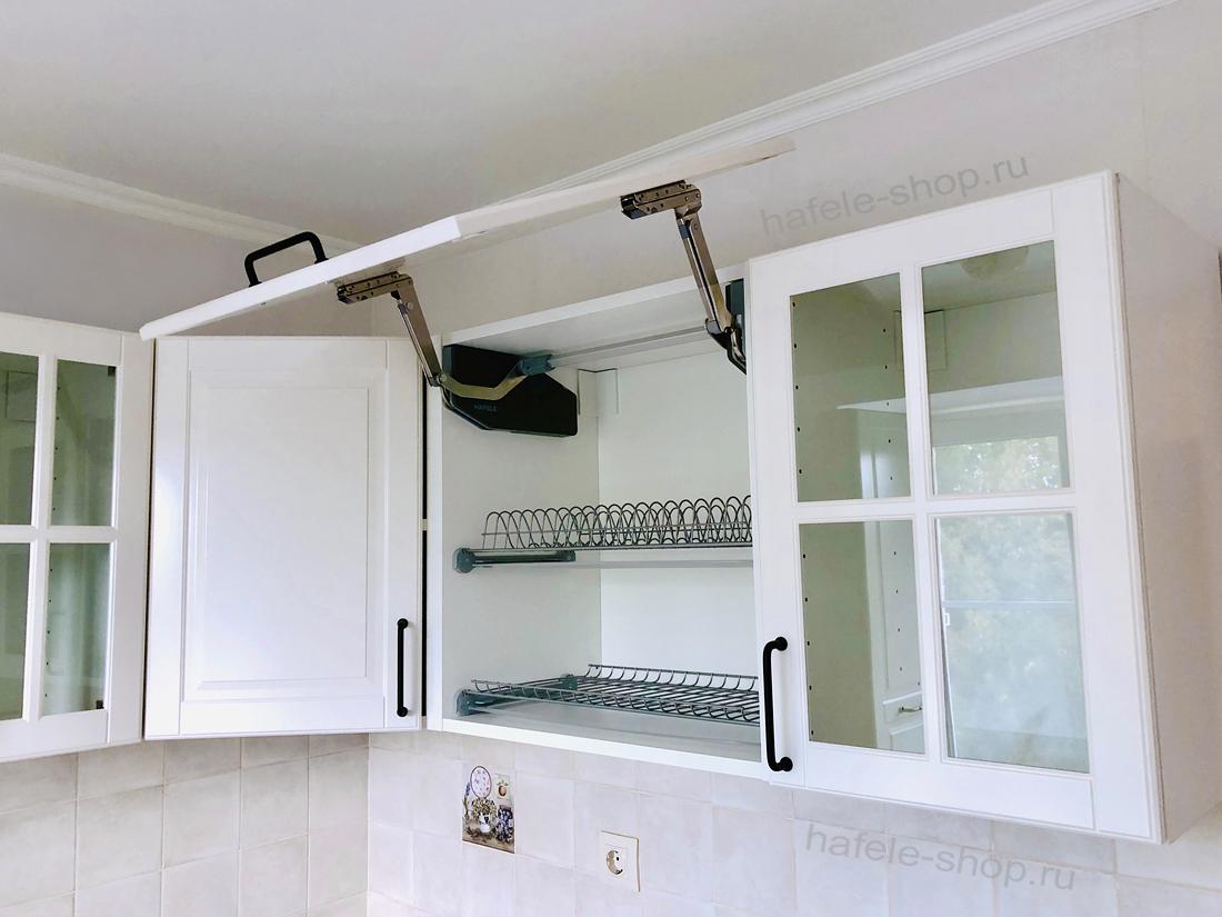 Посудосушитель в кухню (2 решетки+поддон) в шкаф на 800 мм, сталь, цвет серебристый