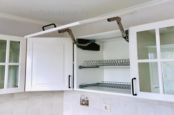 Посудосушитель в кухню (2 решетки+поддон) в шкаф на 900 мм, сталь, цвет серебристый