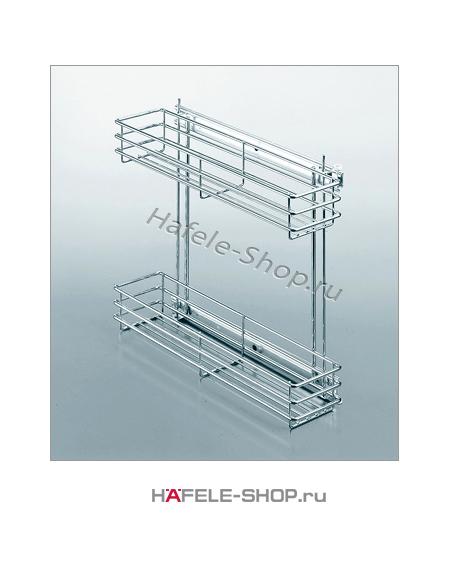 Выдвижные корзины в 2 уровня, ширина 140 мм, высота 400 мм.