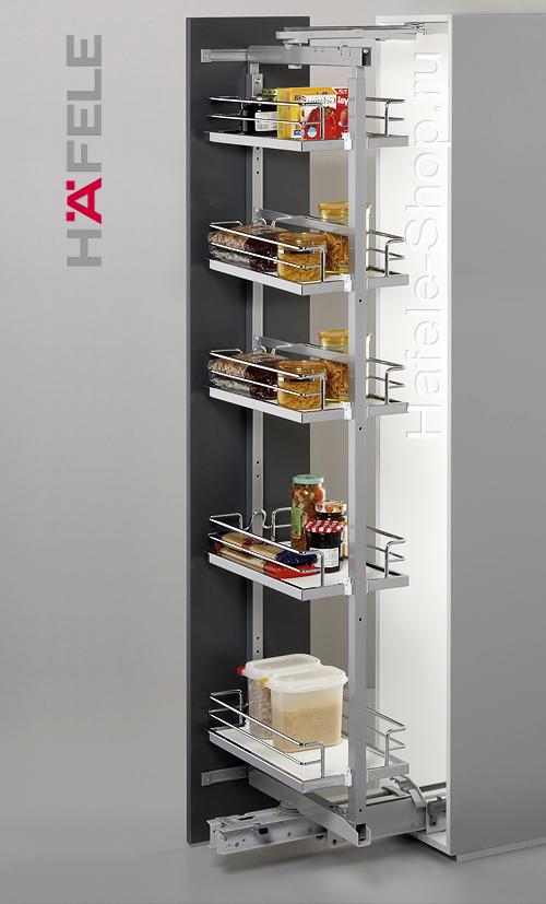 Выдвижная поворотная колонна на кухне, BRILLIANT, ширина фасада 400 мм, высота 1600 - 2000 мм