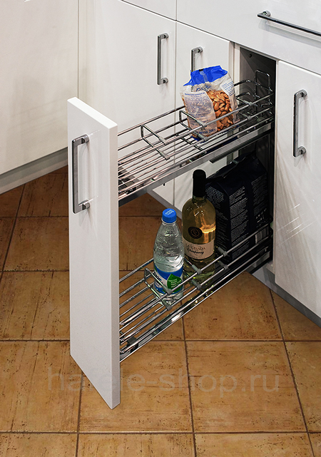 Бутылочница для кухни, CRYSTAL, решетчатое дно, крепление слева