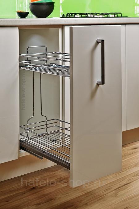 Бутылочница для кухни в шкаф шириной 200 мм, CRYSTAL.