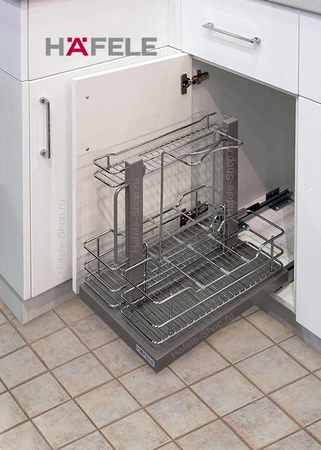 Выдвижная переносная корзина, ELEGANCE, шкаф шириной 400-450 мм.