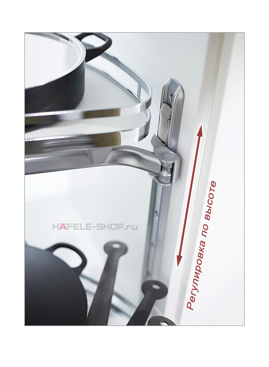 Выдвижные полки в угловой шкаф, Classic, для фасада шириной 500 мм, правый, к-кт 2 шт.