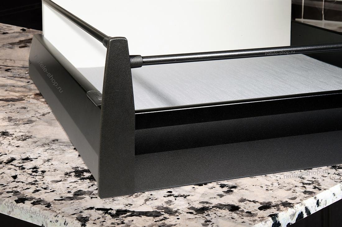 Поперечный круглый рейлинг ящика, 1102 мм, цвет антрацит