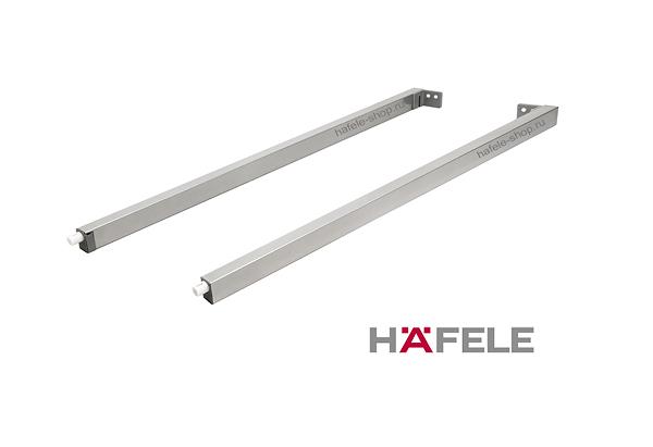 Боковые прямоугольные рейлинги ящика Moovit MX, длина 450 мм, цвет серебристый / серый