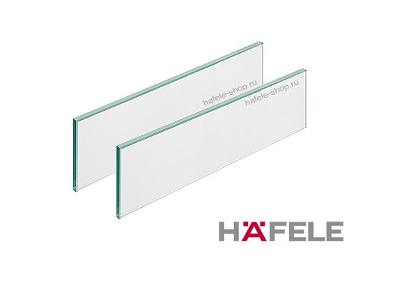 Стеклянная панель, цвет сатин матовый, для ящиков Moovit MX длиной 300 мм.