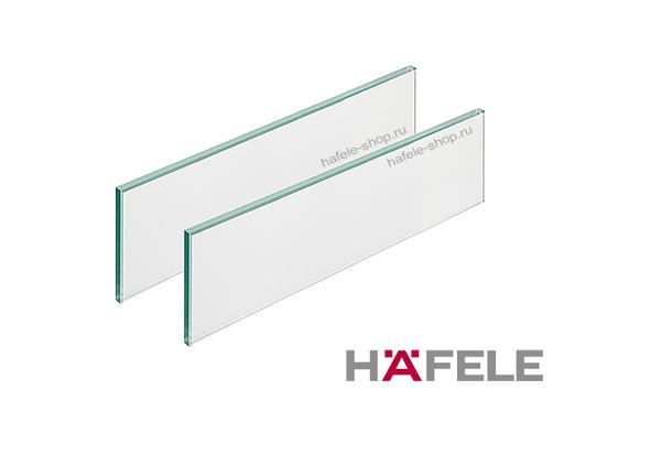 Стеклянная панель, цвет сатин матовый, для ящиков Moovit MX длиной 500 мм.