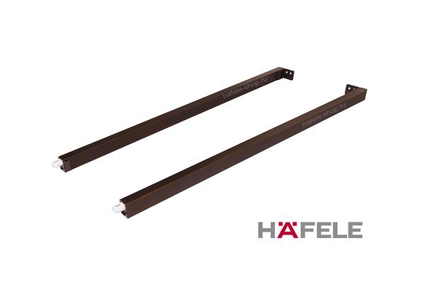 Боковые прямоугольные рейлинги ящика Moovit MX, длина 400 мм, цвет бронза