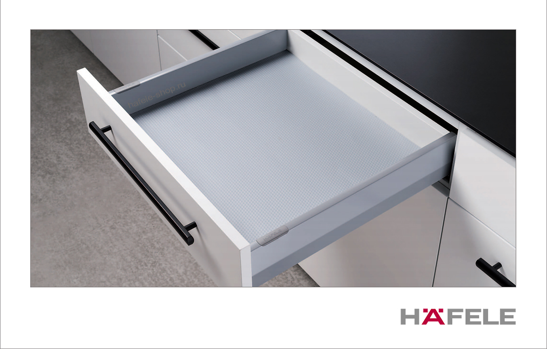 Боковины выдвижного ящика Matrix Box P, высота 92 мм, длина 450 мм, цвет серый