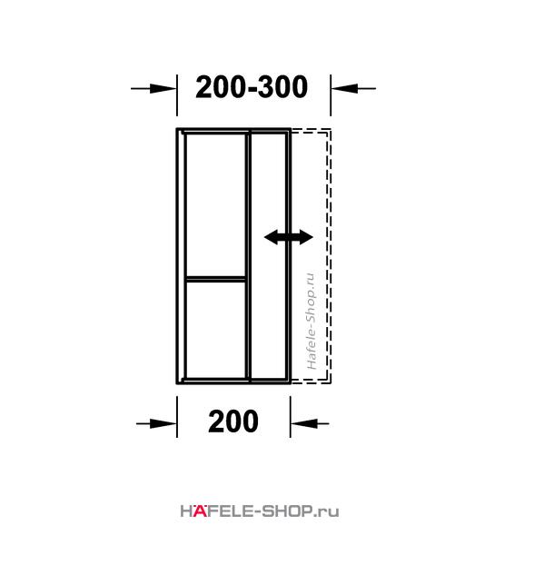 Раздвижной лоток шириной 200-300 мм. Длина 522 мм. Высота 62 мм. Материал бук.