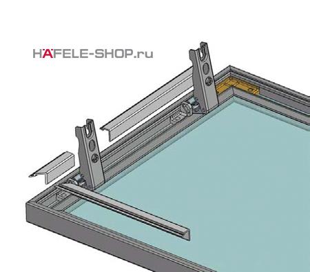 Профиль заглушка для тыльной стороны алюминиевых профилей, длина 2500 мм
