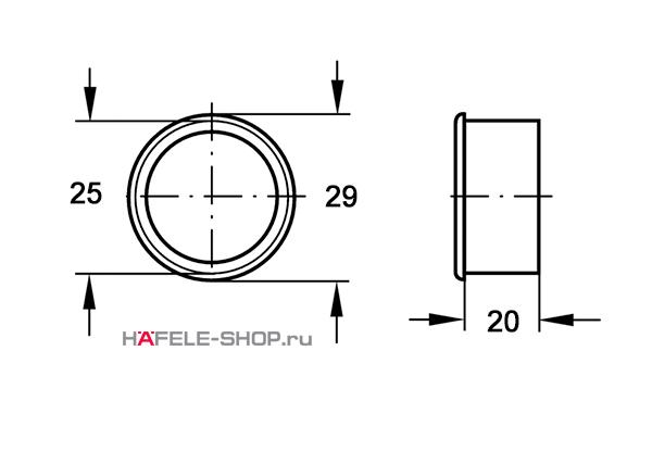 Вентиляционное кольцо, диаметр 29 мм, черное