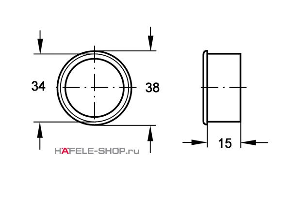 Вентиляционное кольцо, диаметр 38 мм, черное