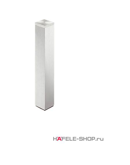 Ножка для приклеивания к стеклу, 60 х 60 мм, длина 400 мм, алюминий, покрытие под нержавеющую сталь, лакированная