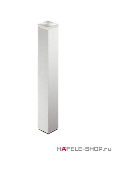 Ножка для приклеивания к стеклу, 60 х 60 мм, длина 720 мм, алюминий, покрытие под нержавеющую сталь, лакированная