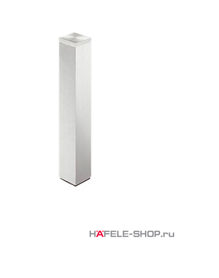 Ножка для приклеивания к стеклу, 60 х 60 мм, длина 400 мм, алюминий, покрыта прозрачным лаком
