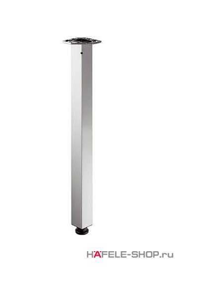 Ножка стола квадратная 60 х 60 мм, длина 705 мм, сталь, никелированная матовая