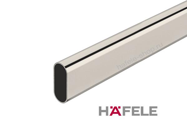 Штанга гардеробная, сталь никелированная, 30 х 15 х 2500 мм, толщина 0,8 мм