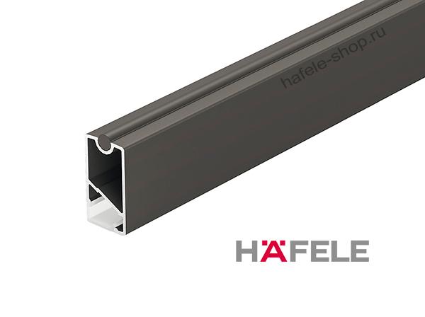 Штанга для одежды прямоугольная черная, алюминий, 34 х 18 х 1200 мм, рассеивателем LED