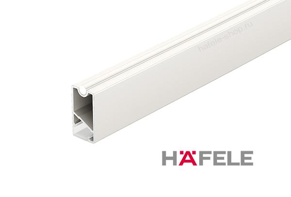 Штанга для одежды прямоугольная белая, алюминий, 34 х 18 х 2500 мм, рассеивателем LED