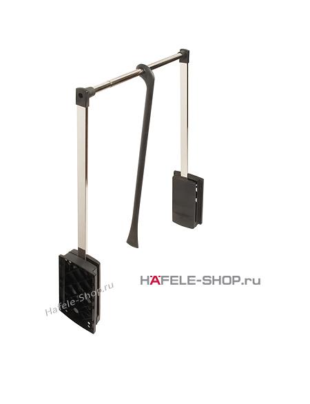 Гардеробный лифт для ширины шкафа 440-610 мм нагрузка 10 кг цвет хром / черный