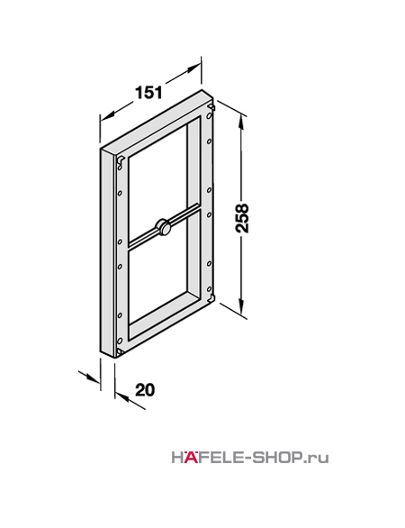 Дистанционная рама для гардеробного лифта цвет алюминий