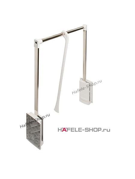 Гардеробный лифт для ширины шкафа 600-1020 мм нагрузка 10 кг цвет хром / белый