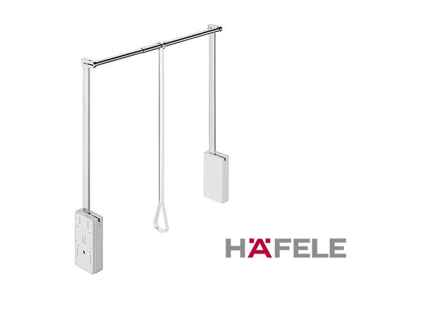 Гардеробный лифт для ширины шкафа 750-1110 мм нагрузка 10 кг цвет белый / хром