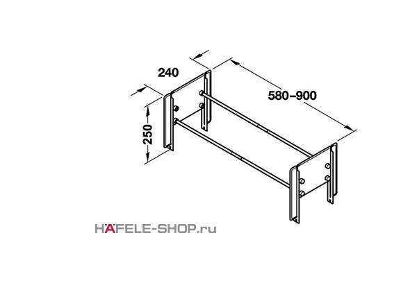 Раздвижной держатель для обуви 580-900 мм черный
