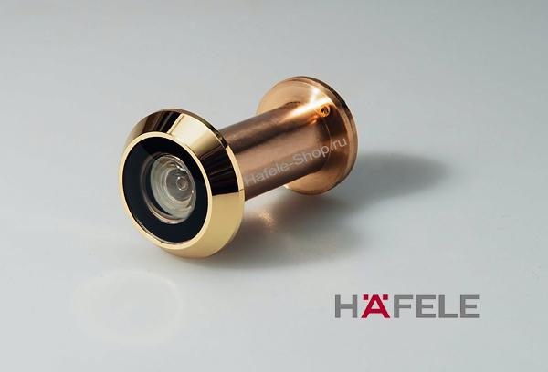 Дверной глазок, для двери толщиной 35-60 мм, цвет золото, угол обзора 200 градусов