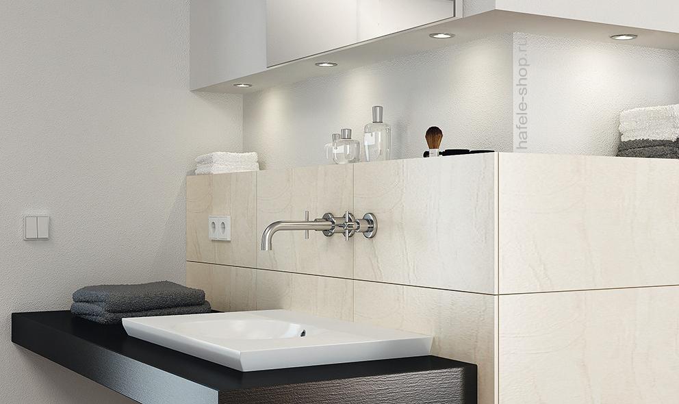 Светильник светодиодный мебельный, модель 2020, никелированный матовый, свет теплый белый, 3000K.