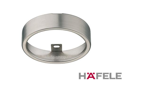 Кольцо для светильника монтажное, внутренний диаметр 65 мм, никелированное матовое