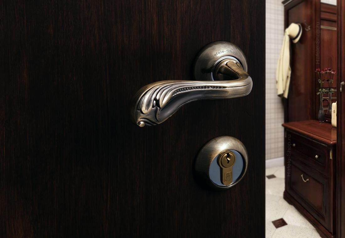 Ручка дверная. Цвет антик бронза