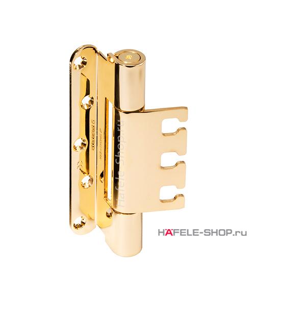 Петля с 3D регулировкой, для двери с четвертью весом до 160 кг, сталь, цвет под золото