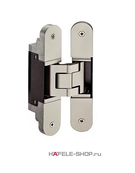 Скрытая дверная петля Tectus TE 340 3D цвет под нержавеющую сталь