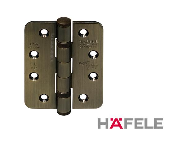 Петля карточная, вороненая, закругленная, ширина 76 мм, для двери до 120 кг.