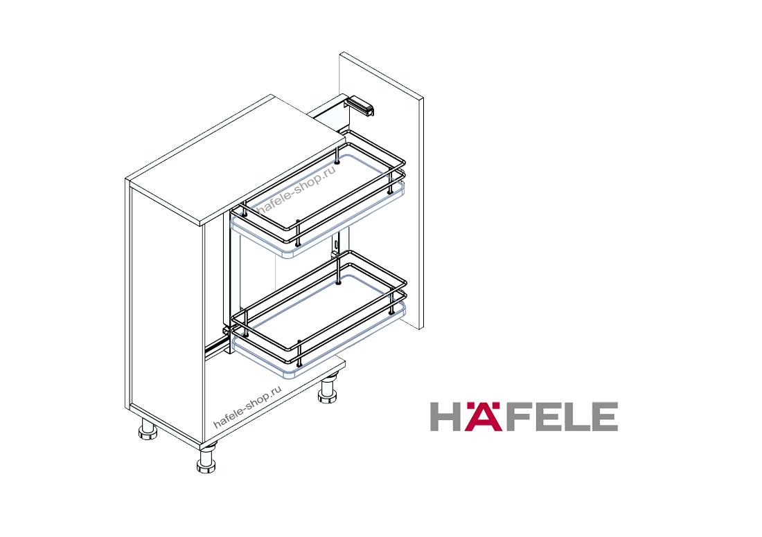 Комплект корзин для кухни в шкаф шириной 350-400 мм, ELEGANCE, правый