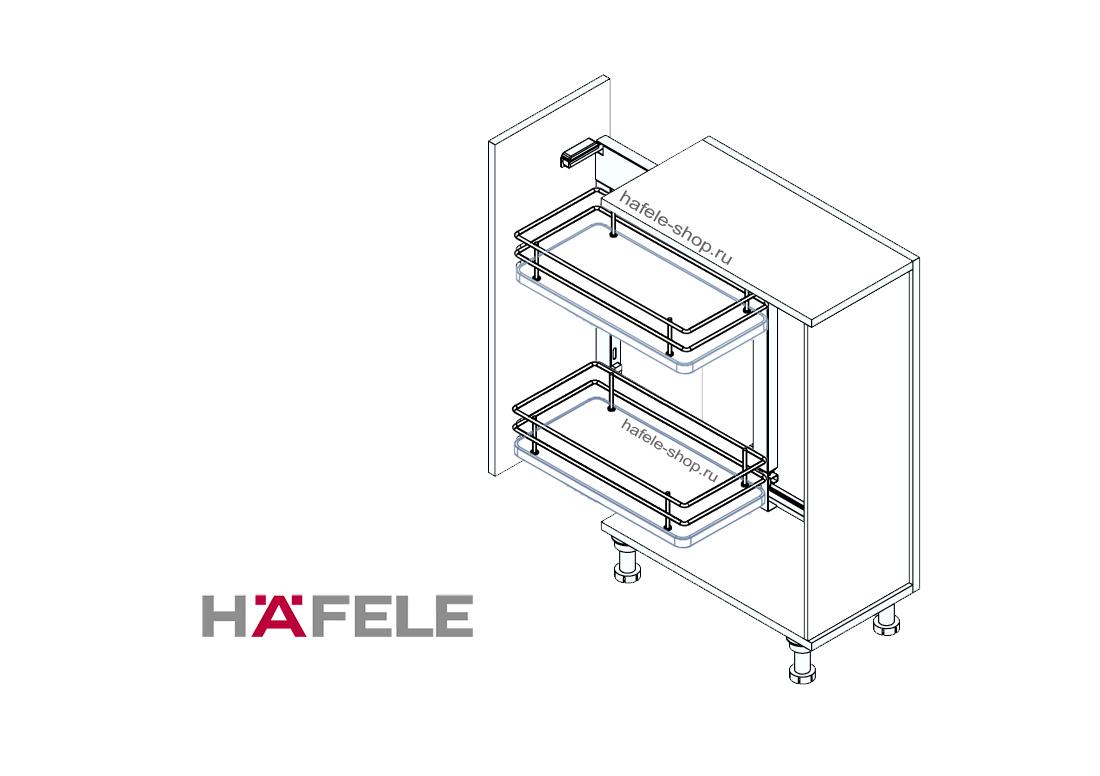 Комплект корзин для кухни в шкаф шириной 350-400 мм, ELEGANCE, левый