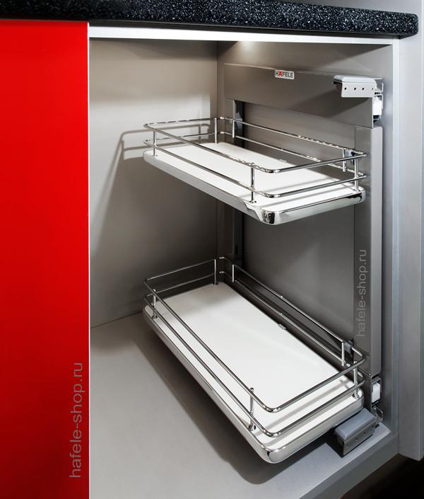 Комплект корзин для кухни в шкаф шириной 250-300 мм, ELEGANCE, правый