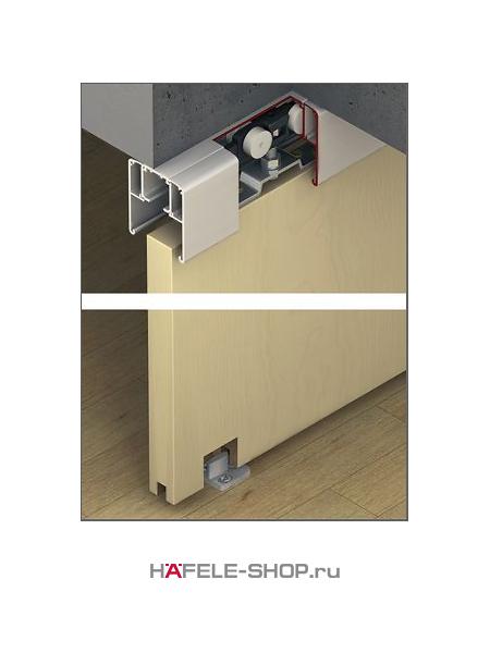 Механизм раздвижной двери из древесины, HAFELE Classic 80-P. Вес двери до 80 кг. Без демпфера.