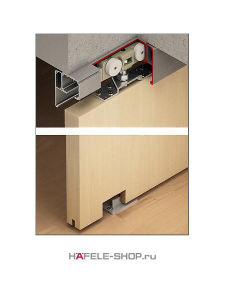 Механизм раздвижной двери из древесины, HAFELE Classic 160-P. Вес двери до 160 кг. Без демпфера.