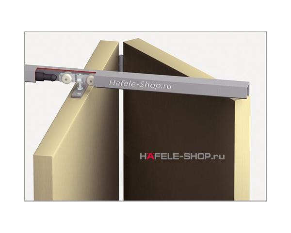 Механизм складной двери из 2х створок T-Fold, Вес двери до 50 кг.