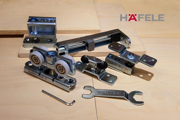 Механизм складных дверей, на 2 двери, установка с нижней направляющей, Slido Fold 100