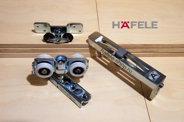 Дополнительный комплект для 2х дверей, установка с нижней направляющей, Slido Fold 100-T