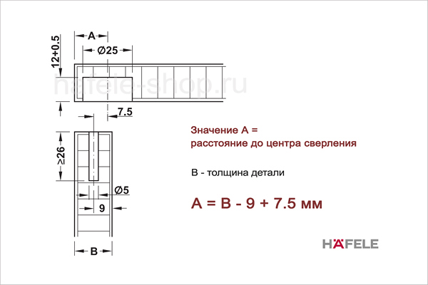 Размеры стяжки Tofix